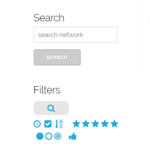 network search and filter